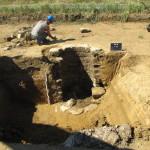 Un puits en cours de fouille