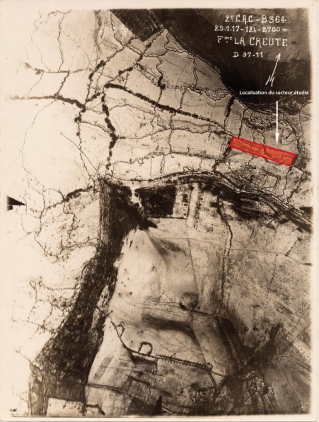 photographie aérienne réalisée en 1917 ©Archives départementales de l' Aisne_AD0221_019