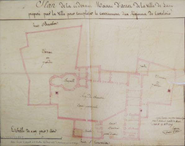 Plan de la maison d'arrêt-1835©Archives départementales de l' Aisne_2R2  24