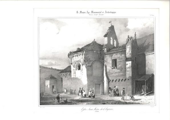 lithographie chapelle des templiers vers 1835_musee de laon 989-7