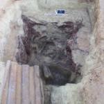 Vue d'un abri destiné à stocker du matériel©pôle archéologique/CD02