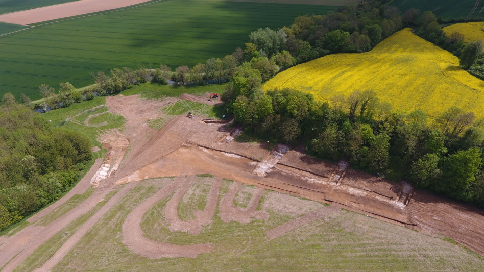 Vue du site en cours de fouille ©Pôle archéologique du département de l'Aisne_fouille de Marle_Montigny-sous-Marle 2017